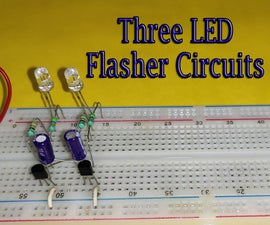 Three Ways to Make LED Flasher Circuit With Rate Control and Alternate Flashing