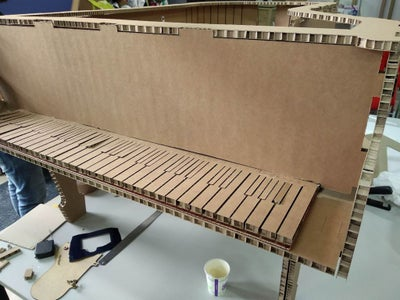 Carboard ​Piano Stage