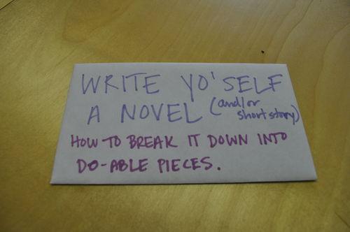 Writing a Novel: the Breakdown