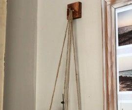 Rustic Wood Hanging Shelf