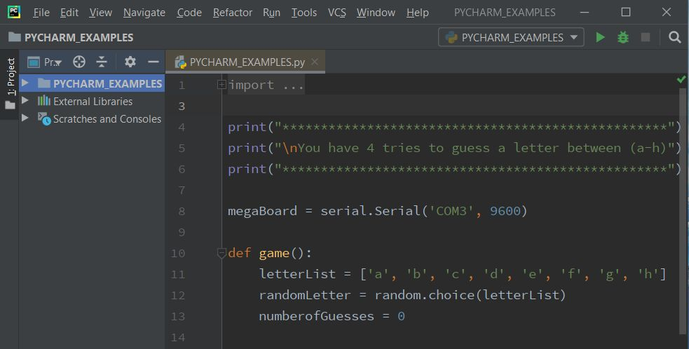 Picture of Creating a Python Script in PyCharm