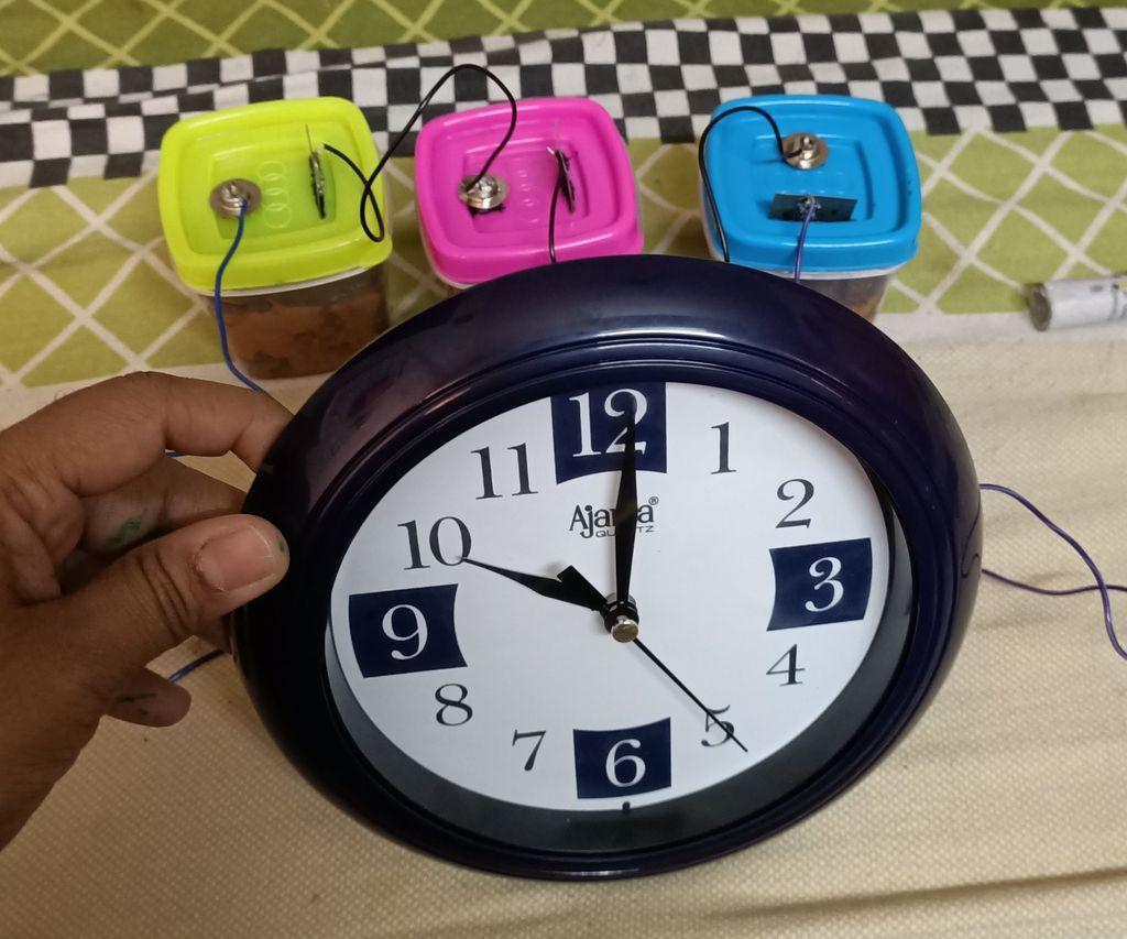 Bio -battery Clock by Nithish Arjun