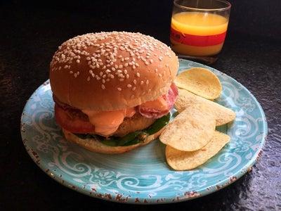 Homemade Haricot or Navy Bean Burgers