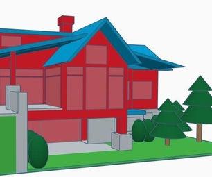 建立你的梦想家园在TinkerCAD的3D模型