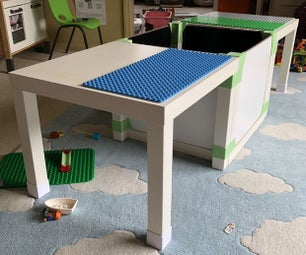 Hardware-free LEGO/DUPLO Table (IKEA LACK Hack)