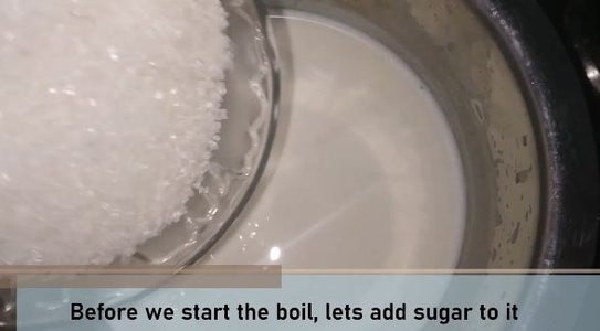Prepare the Milk With Milk Powder & Sugar