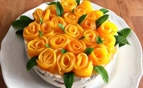 桃花芝士蛋糕