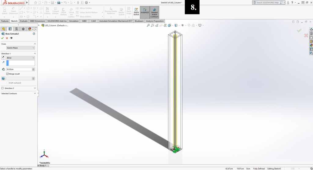 Picture of Creating the LED Column
