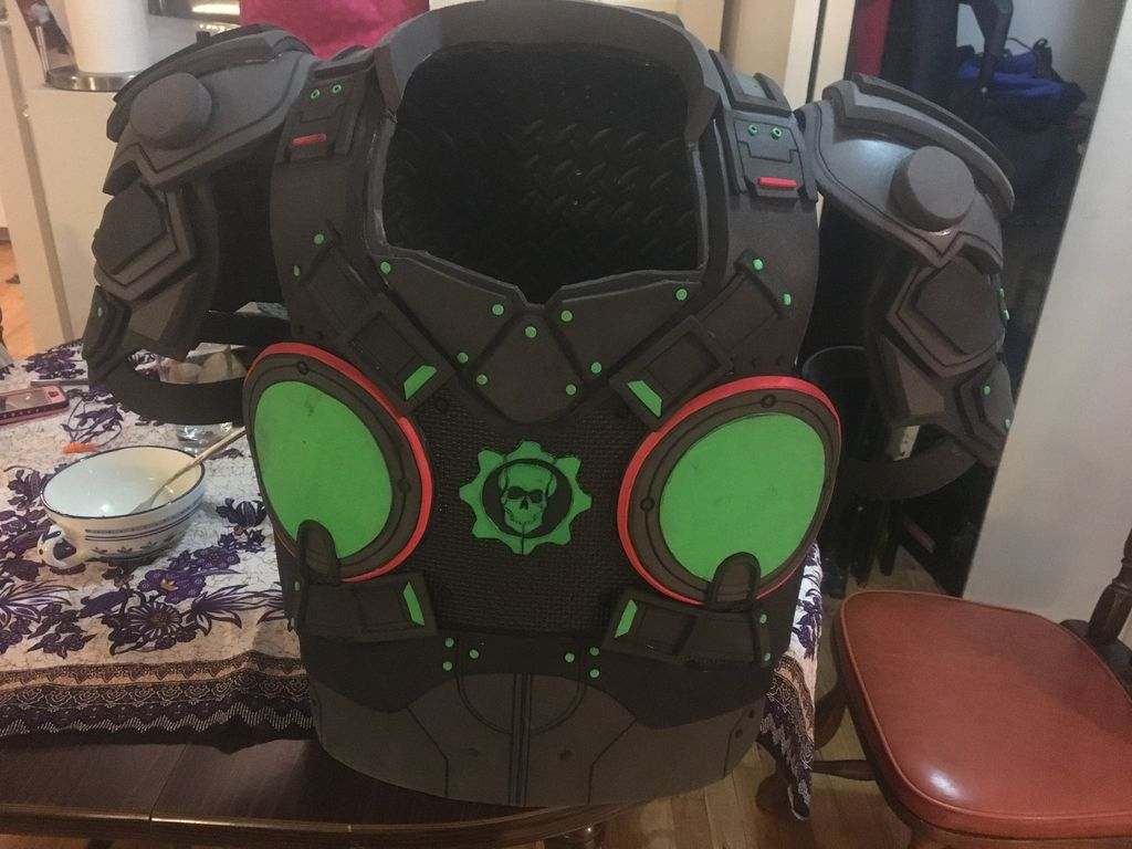 Picture of Completed Chest Piece Armor