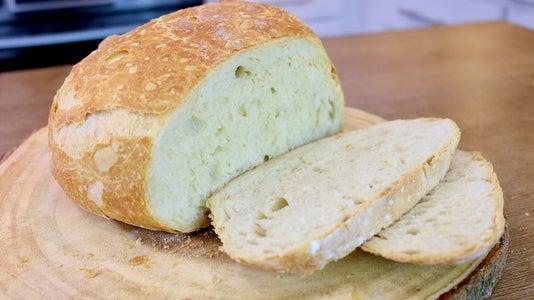 Lazy Man Bread | 4 Ingredients Bread Recipe | No Knead | No Machine