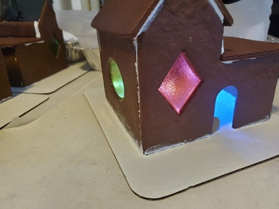 Glowing Gingerbread Houses