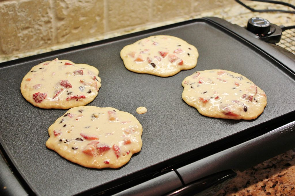 Picture of Strawberry Chocolate Chip Pancakes (gluten Free)