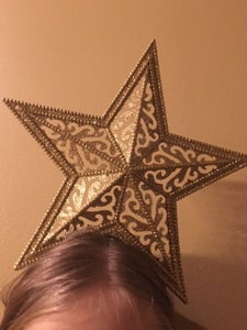 Use 2 Paper Clips to Attach the Star to the Headband, and Place on Head