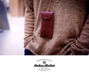 皮革电话颈部袋