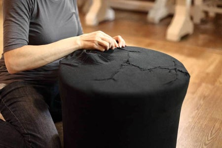Wrap the Pouf With Inner Fabric