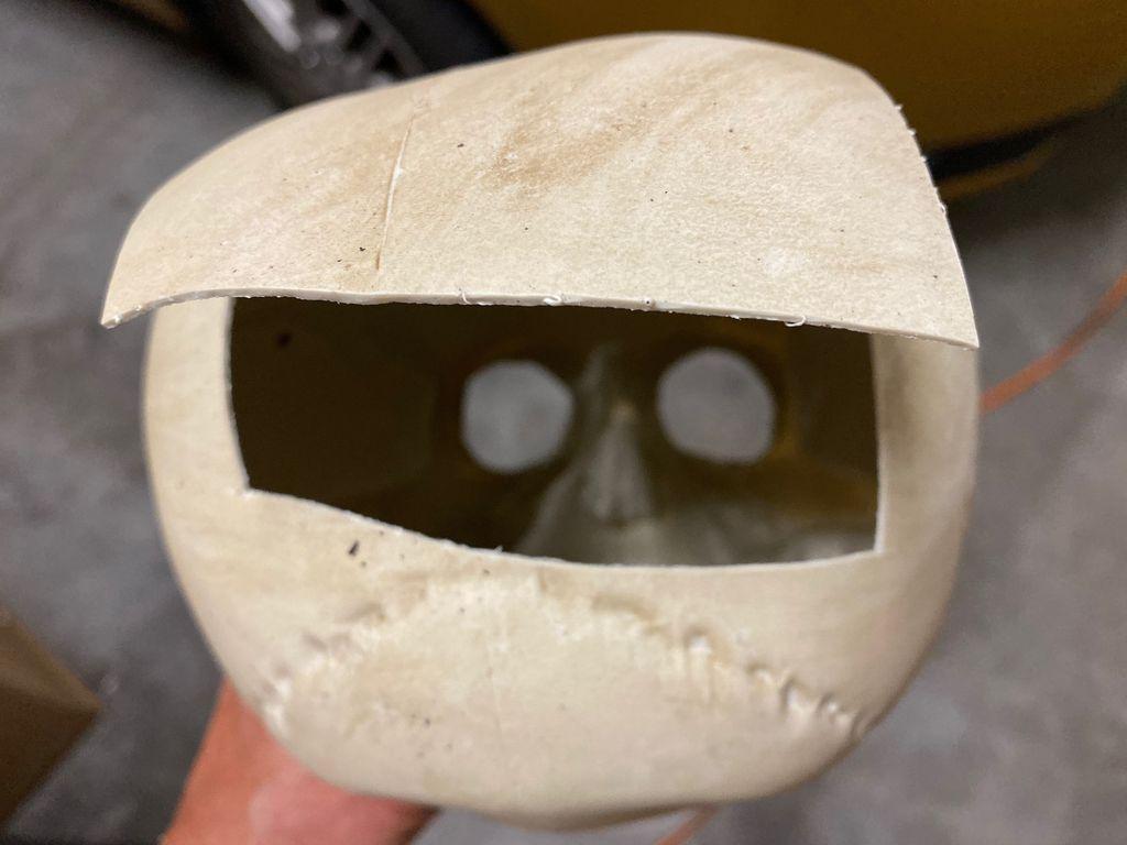 Picture of Cut Access Door in Back of Skull