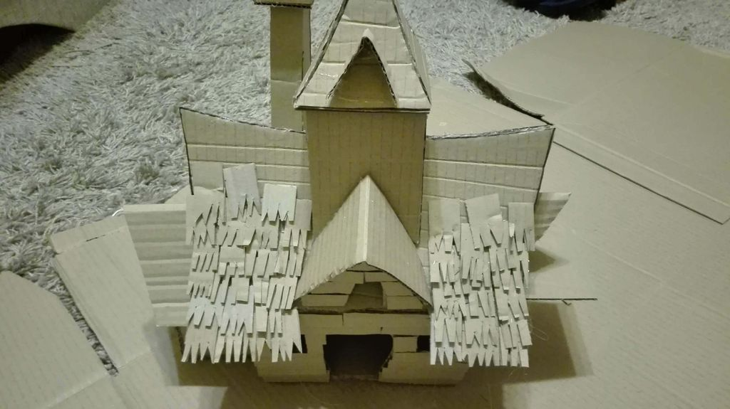 Picture of Making the Details of the House.
