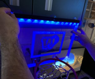 LED Plexiglass Basketball Hoop