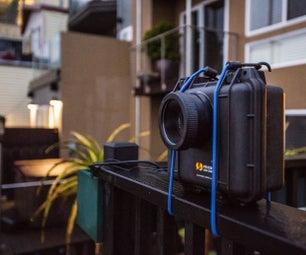 时间流逝防水树莓派供电wifi的DSLR摄像头