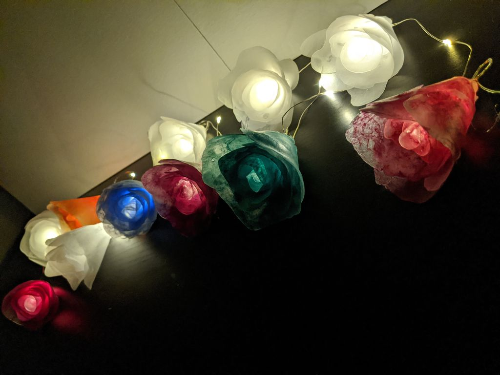 Picture of Attaching Flowers to Light Strand