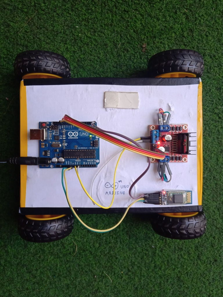 Picture of Arduino Robot Car Control Using Hc-05 Bluetooth Module