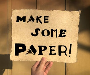 Backyard Papermaking!