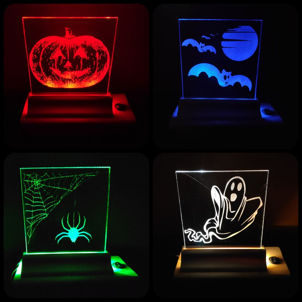 Picture of Laser Engraved Halloween Lamp (simple and Cheap!)