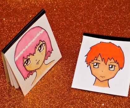 DIY Miniature Anime Inspired Sketchbooks