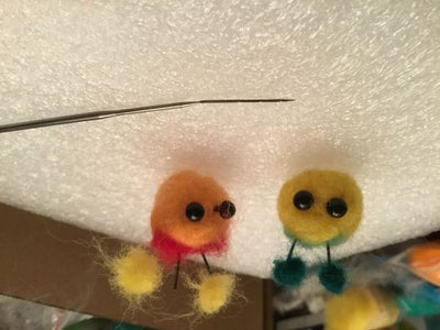 How to Make Needle Felted Cute Pom Poms! (The Reason the Cover Is Upside Down Is Because It Glitched)