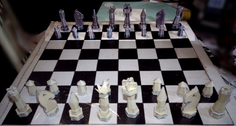 Picture of Cardboard Chess Pieces