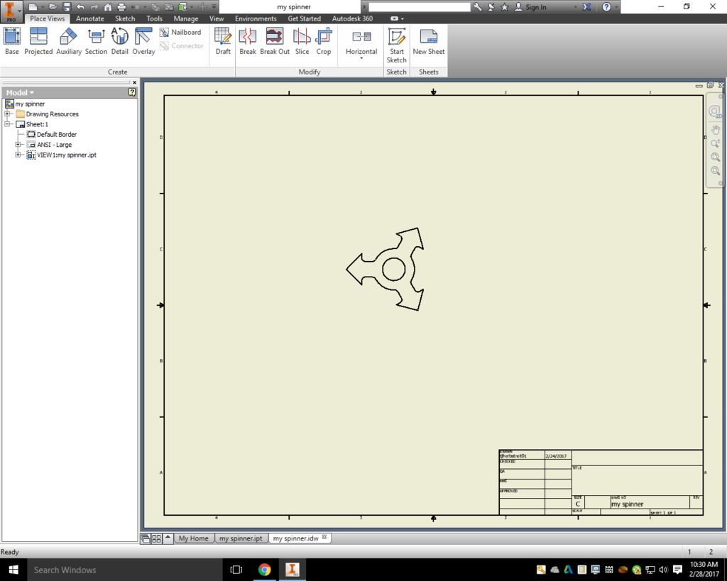 Picture of Step Two Create a Drawing File