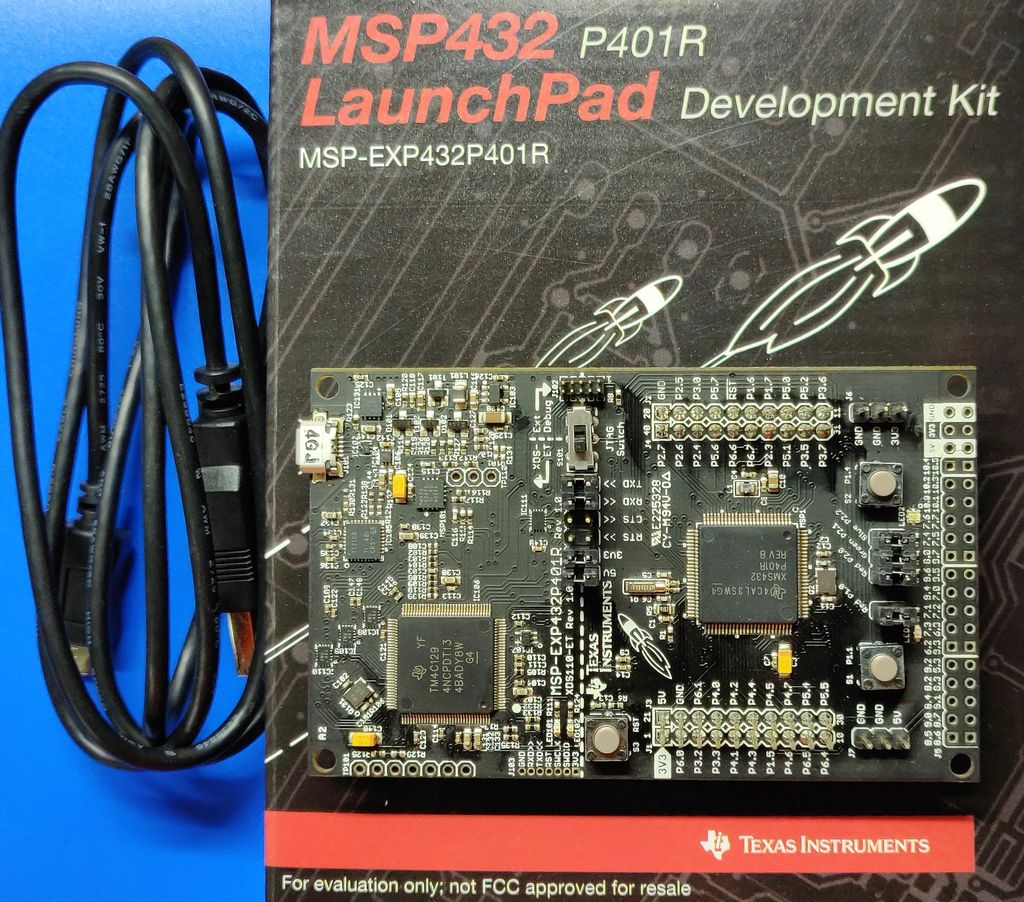 Picture of Hardware: MSP432P401R LaunchPad