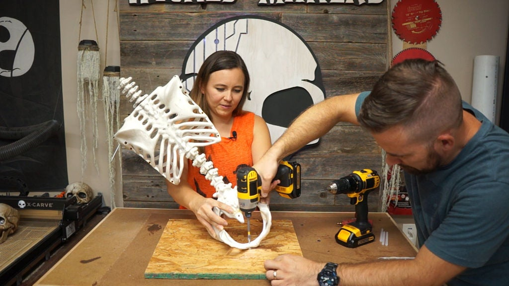 Picture of Attach Your Skeleton to a Flat Base