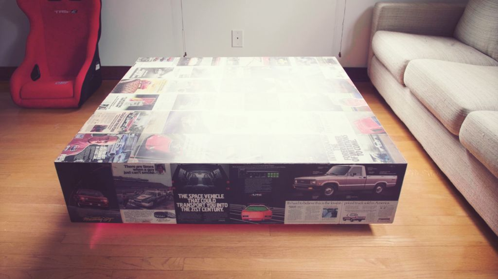 Picture of Recycled Magazine Coffee Table