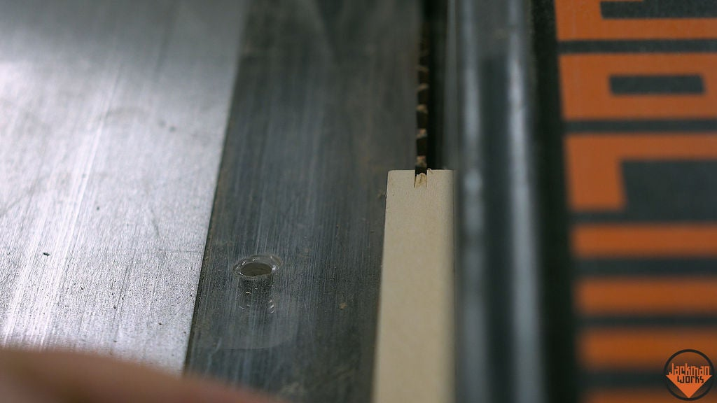 Picture of Cutting the Grooves and Splitting in Half