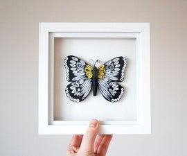 如何奎尔一条小舢板 设计自己的蝴蝶Quilling模式