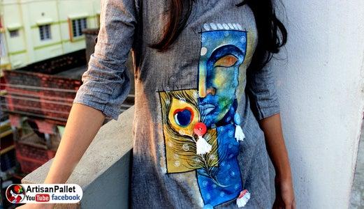 DIY Simple Fabric Painting on Dress