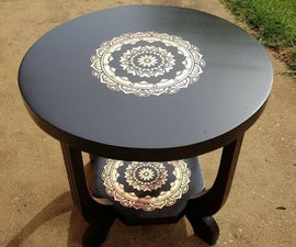 Bronze Leaf Table Makeover
