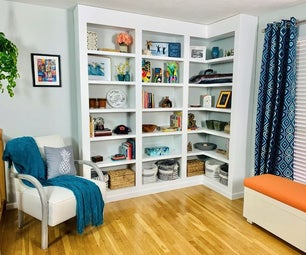 Build Your Own Hardwood Built-In Bookcases!
