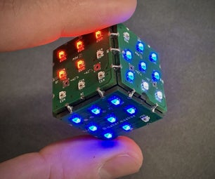 Six Sided PCB LED Dice With WIFI & Gyroscope - PIKOCUBE