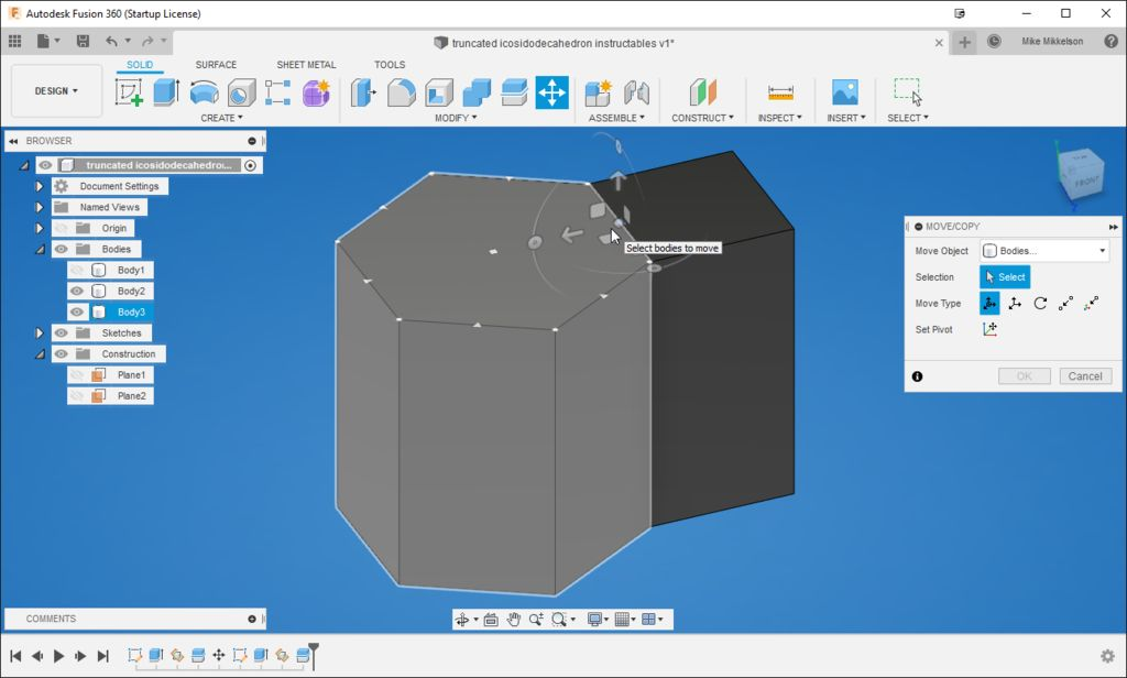 Picture of Create the Face Angle Between the Square and Hexagon