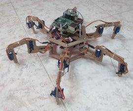 Raspberry Pi Hexapod Wooden Robot.