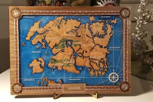 Epoxy Resin Fantasy Maps