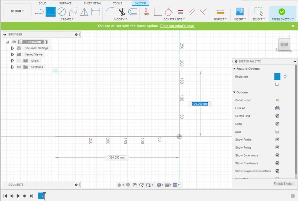 Picture of Fusion 360 Design: Sketching the Base Shape