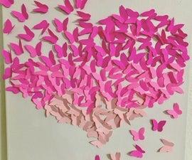 Paper Butterfly Heart