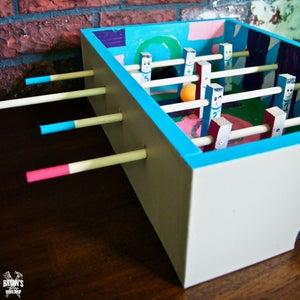 迷你木制桌上足球箱项目!
