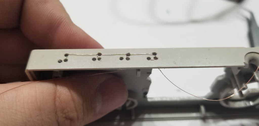 Picture of Case Modifications and Button Wiring