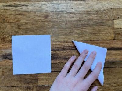 Fold Square and Triangle in Half Diagonally.