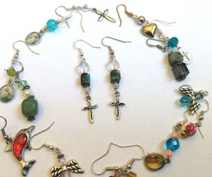 Super Easy Bead and Charm Earrings