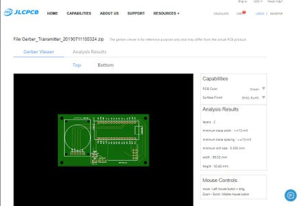 Ordering the PCBs From JLCPCB